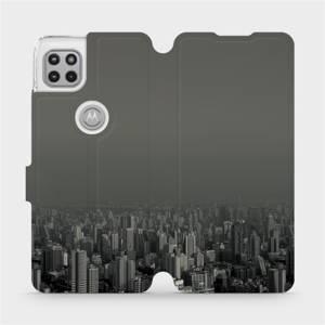 Flipové pouzdro Mobiwear na mobil Motorola Moto G 5G - V063P Město v šedém hávu