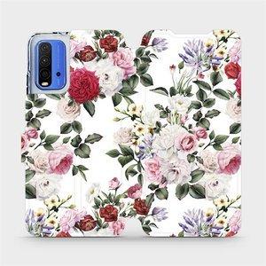 Flipové pouzdro Mobiwear na mobil Xiaomi Redmi 9T - MD01S Růže na bílé