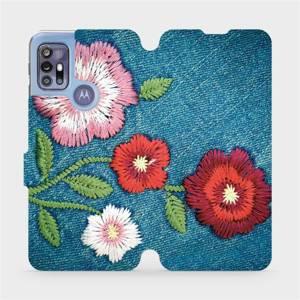 Flipové pouzdro Mobiwear na mobil Motorola Moto G30 - MD05P Džínové květy