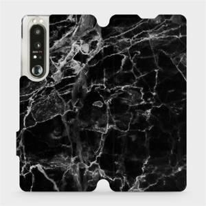 Flip pouzdro Mobiwear na mobil Sony Xperia 1 III - V056P Černý mramor