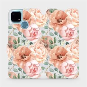 Flip pouzdro Mobiwear na mobil Realme 7i - MP02S Pastelové květy