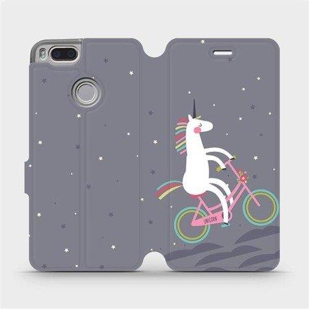Flipové pouzdro Mobiwear na mobil Xiaomi Mi A1 - V024P Jednorožec na kole