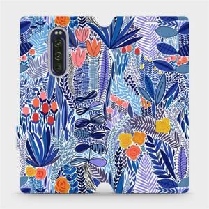 Flip pouzdro Mobiwear na mobil Sony Xperia 1 - MP03P Modrá květena