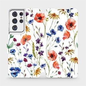 Flip pouzdro Mobiwear na mobil Samsung Galaxy S21 Ultra - MP04S Luční kvítí