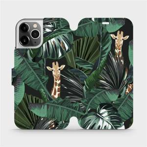 Flip pouzdro Mobiwear na mobil Apple iPhone 12 Pro - VP06P Žirafky