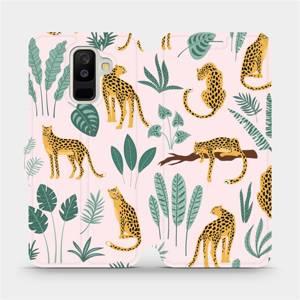 Flip pouzdro Mobiwear na mobil Samsung Galaxy A6 Plus 2018 - MP07S Leopardi