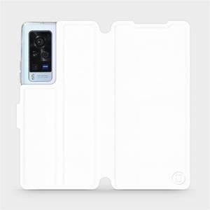 Flip pouzdro Mobiwear na mobil Vivo X60 Pro 5G v provedení C_WHS White&Gray s šedým vnitřkem