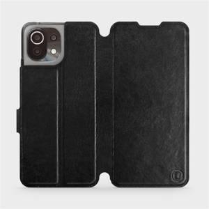 Flip pouzdro Mobiwear na mobil Xiaomi 11 Lite 5G NE v provedení C_BLS Black&Gray s šedým vnitřkem