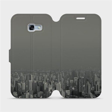 Flipové pouzdro Mobiwear na mobil Samsung Galaxy A3 2017 - V063P Město v šedém hávu