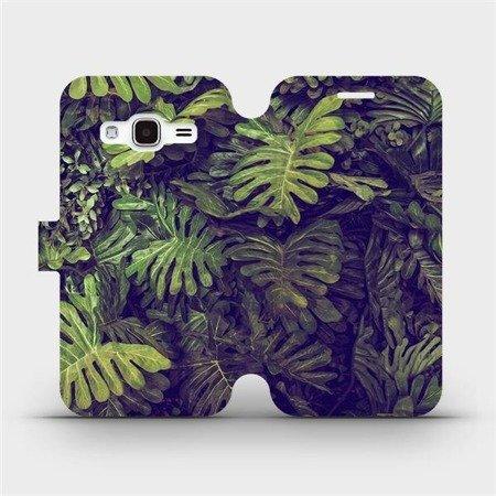 Flipové pouzdro Mobiwear na mobil Samsung Galaxy J3 2016 - V136P Zelená stěna z listů
