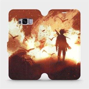 Flipové pouzdro Mobiwear na mobil Samsung Galaxy S8 - MA06S Postava v ohni