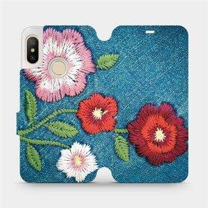 Flipové pouzdro Mobiwear na mobil Xiaomi Mi A2 Lite - MD05P Džínové květy