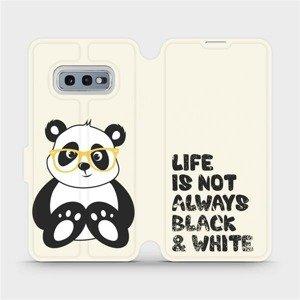 Flipové pouzdro Mobiwear na mobil Samsung Galaxy S10e - M041S Panda - life is not always black and white