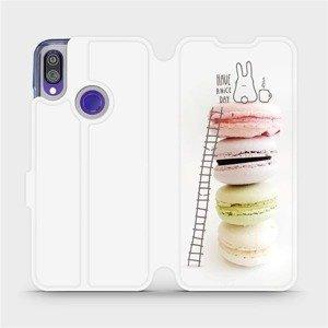 Flipové pouzdro Mobiwear na mobil Xiaomi Redmi Note 7 - M090P Makronky - have a nice day