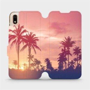 Flipové pouzdro Mobiwear na mobil Huawei Y5 2019 - M134P Palmy a růžová obloha