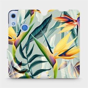 Flipové pouzdro Mobiwear na mobil Huawei Y6S - MC02S Žluté velké květy a zelené listy