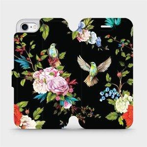 Flipové pouzdro Mobiwear na mobil Apple iPhone SE 2020 / 7 / 8 - VD09S Ptáčci a květy - výprodej