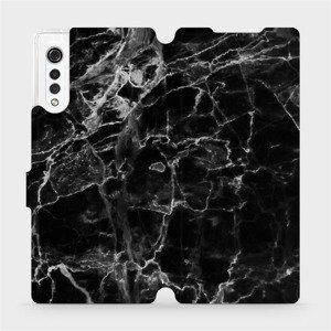 Flipové pouzdro Mobiwear na mobil LG Velvet - V056P Černý mramor