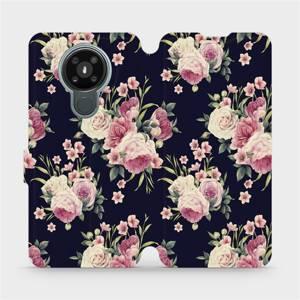 Flipové pouzdro Mobiwear na mobil Nokia 3.4 - V068P Růžičky