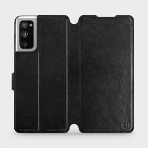Flipové pouzdro Mobiwear na mobil Samsung Galaxy S20 FE v provedení C_BLS Black&Gray s šedým vnitřkem