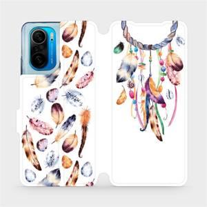 Flipové pouzdro Mobiwear na mobil Xiaomi Mi 11i / Xiaomi Poco F3 - M003S Lapač a barevná pírka