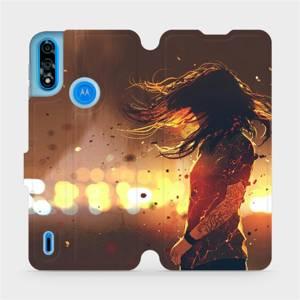 Flipové pouzdro Mobiwear na mobil Motorola Moto E7 Power - MA02S Tetovaná dívka