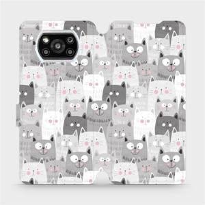 Flipové pouzdro Mobiwear na mobil Xiaomi Poco X3 Pro - M099P Kočičky