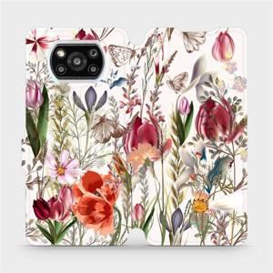 Flip pouzdro Mobiwear na mobil Xiaomi POCO X3 Pro - MP01S Rozkvetlá louka