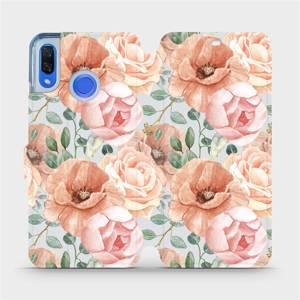Flip pouzdro Mobiwear na mobil Huawei Nova 3 - MP02S Pastelové květy