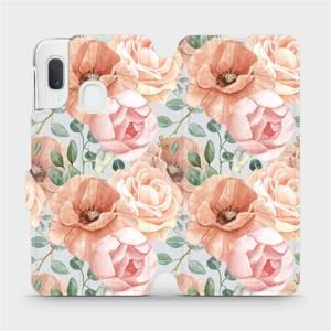 Flip pouzdro Mobiwear na mobil Samsung Galaxy A20e - MP02S Pastelové květy