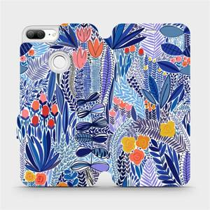 Flip pouzdro Mobiwear na mobil Honor 9 Lite - MP03P Modrá květena