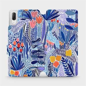 Flip pouzdro Mobiwear na mobil Sony Xperia L3 - MP03P Modrá květena