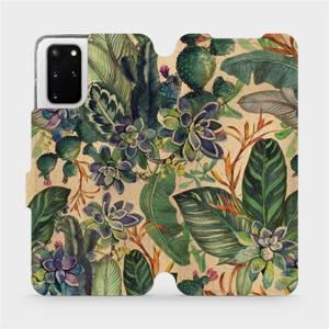 Flip pouzdro Mobiwear na mobil Samsung Galaxy S20 Plus - VP05S Sukulenty