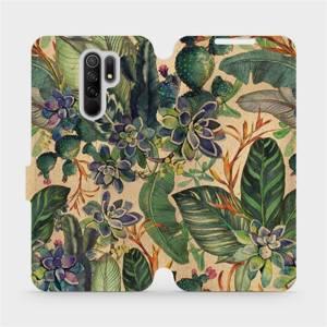 Flip pouzdro Mobiwear na mobil Xiaomi Redmi 9 - VP05S Sukulenty