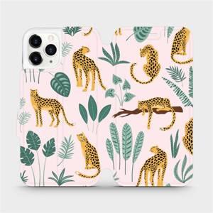 Flip pouzdro Mobiwear na mobil Apple iPhone 11 Pro - MP07S Leopardi