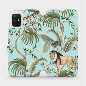 Flip pouzdro Mobiwear na mobil Samsung Galaxy A51 - MP08S Dvě kočičky