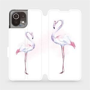 Flip pouzdro Mobiwear na mobil Xiaomi 11 Lite 5G NE - M005S Plameňáci