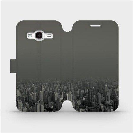 Flipové pouzdro Mobiwear na mobil Samsung Galaxy J3 2016 - V063P Město v šedém hávu