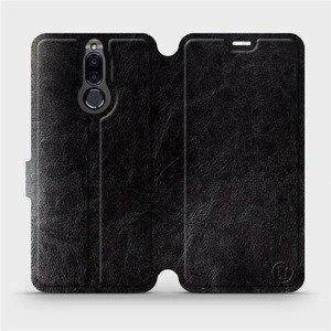 Parádní flip pouzdro Mobiwear na mobil Huawei Mate 10 Lite v provedení C_BLP Black&Orange s oranžovým vnitřkem