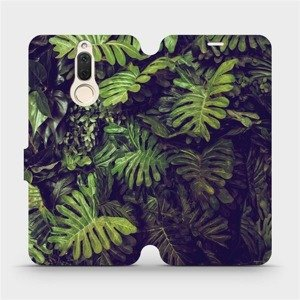 Flipové pouzdro Mobiwear na mobil Huawei Mate 10 Lite - V136P Zelená stěna z listů