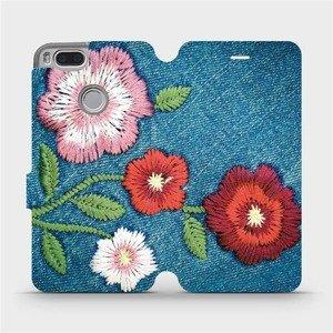 Flipové pouzdro Mobiwear na mobil Xiaomi Mi A1 - MD05P Džínové květy