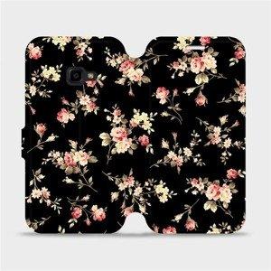 Flipové pouzdro Mobiwear na mobil Samsung Xcover 4 - VD02S Květy na černé