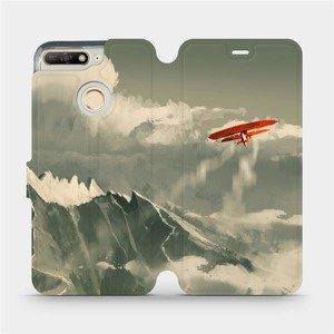 Flipové pouzdro Mobiwear na mobil Honor 7A - MA03P Oranžové letadlo v horách