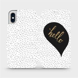 Flipové pouzdro Mobiwear na mobil Apple iPhone XS - M013P Golden hello