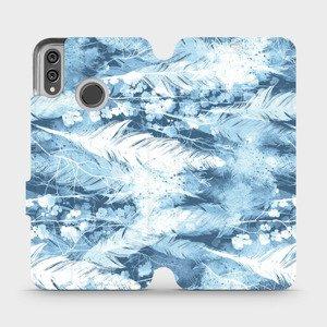 Flipové pouzdro Mobiwear na mobil Honor 8X - M058S Světle modrá horizontální pírka