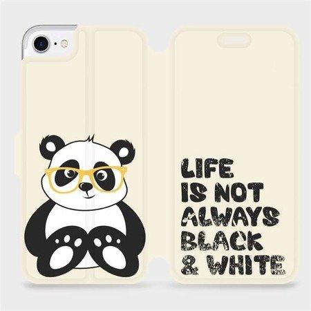 Flipové pouzdro Mobiwear na mobil Apple iPhone 7 - M041S Panda - life is not always black and white
