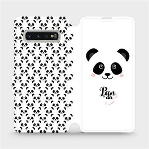Flipové pouzdro Mobiwear na mobil Samsung Galaxy S10 - M030P Panda Amálka