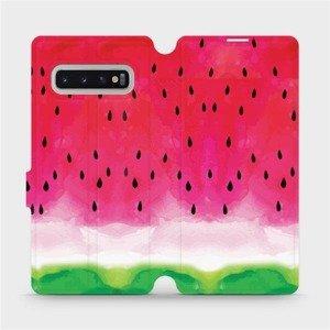 Flipové pouzdro Mobiwear na mobil Samsung Galaxy S10 Plus - V086S Melounek