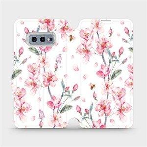 Flipové pouzdro Mobiwear na mobil Samsung Galaxy S10e - M124S Růžové květy