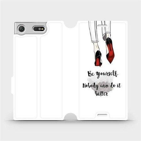 Flipové pouzdro Mobiwear na mobil Sony Xperia XZ1 Compact - M046P Be yourself